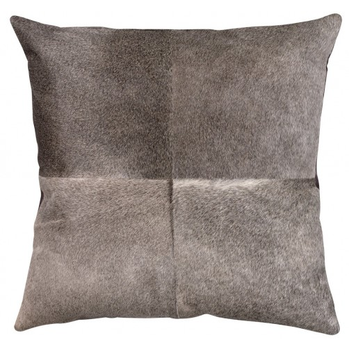grey hide pillow