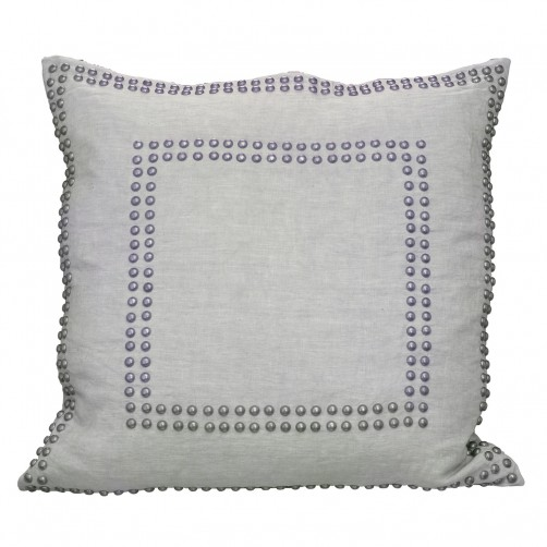 linen breeze large studded pillow