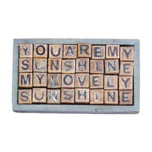 you are my sunshine blocks