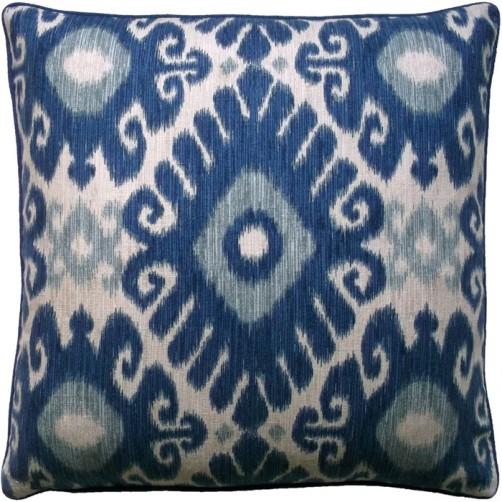 tribal ikat indigo pillow