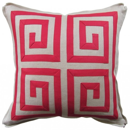 tribeca fretwork pillow