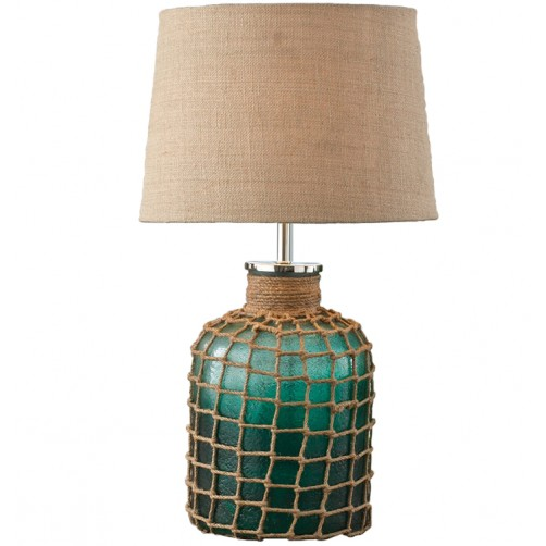 sea green lamp with shade