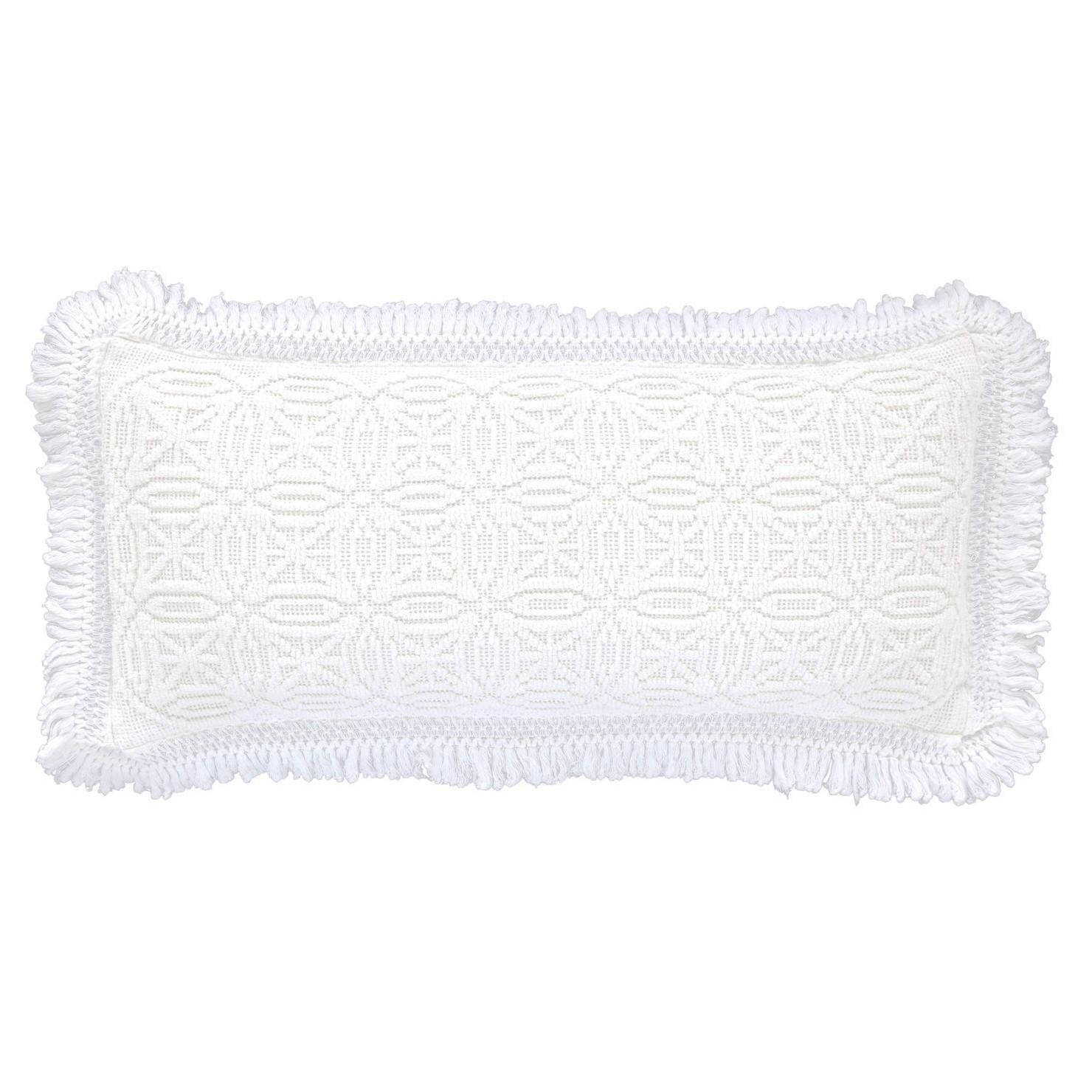 pine cone hill anka white decorative pillow - tuvalu coastal home White Decorative Pillows