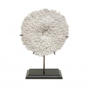 palecek plate coral on stand
