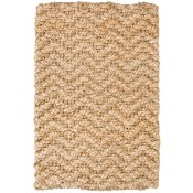 herringbone handspun braided jute rug, gold