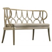 simone curved back bench