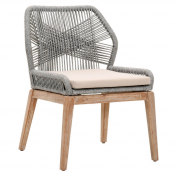 platinum rope loom dining chair