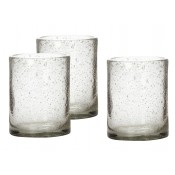 small glass hurricane set