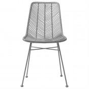 grey rattan chair