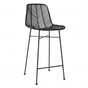 black rattan bar stool