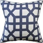 avignon trellis navy pillow