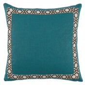lacefield plasma linen with fossil on white camden tape pillow