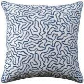 corallina prussian pillow