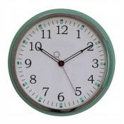 metal wall clock, aqua