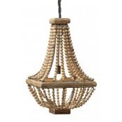 hacienda chandelier with wood beads