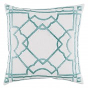 lacefield gatsby mineral embroidery on white pillow