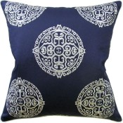 halie navy pillow