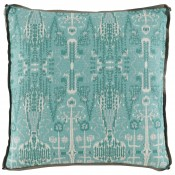 lacefield bombay mist pillow with trellis mist gusset and stone linen flange