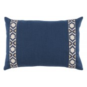 lacefield navy linen pillow with navy on off white camden tape