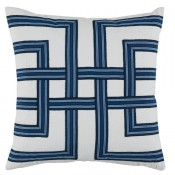 lacefield harbor lattice tape pillow on white flax