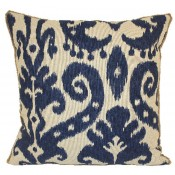 lacefield marrakesh batik pillow with jute eyelash trim