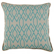 lacefield zoe peacock pillow with eyelash trim