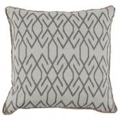 lacefield zoe zinc pillow with eyelash trim