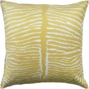 le zebre saffron pillow