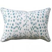 les touches aqua bolster pillow