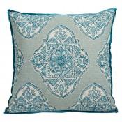 lacefield malta capri pillow with trevi capri gusset and plasma linen flange