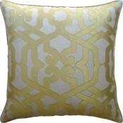 modern elegance saffron pillow