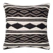 dhurri style grey multi diamond pillow