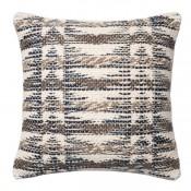 dhurri style grey multi pillow