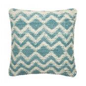 dhurri style blue chevron pillow