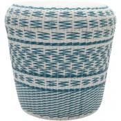 surya parkdale sky blue outdoor stool