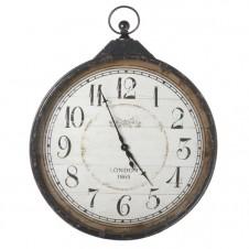 extra large distressed black pocket watch clock