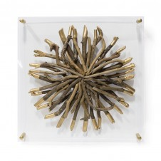 acrylic driftwood wall decor-round