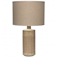 jamie young astral table lamp w/ large drum shade