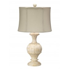 jamie young bone carved table lamp w/ hourglass shade