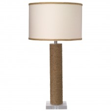 jamie young cylinder rope table lamp w/ medium drum shade
