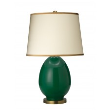 jamie young large egg table lamp w/ open cone shade