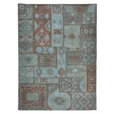 lagoon patchwork stonewashed kilim rug