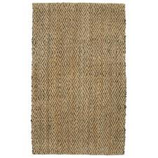 diamond rug, chocolate/natural