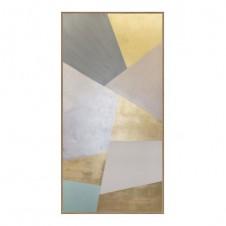 golden plane painting