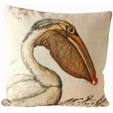 linen pelican pillow