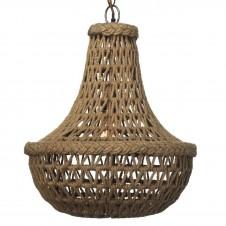 jamie young jute macrame chandelier