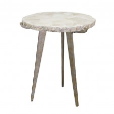 palecek easton fossilized clam side table