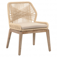 sand rope loom dining chair
