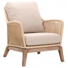sand rope loom club chair