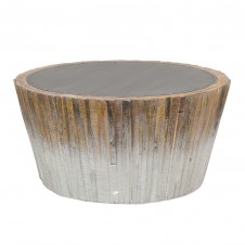 palecek harbor wood coffee table